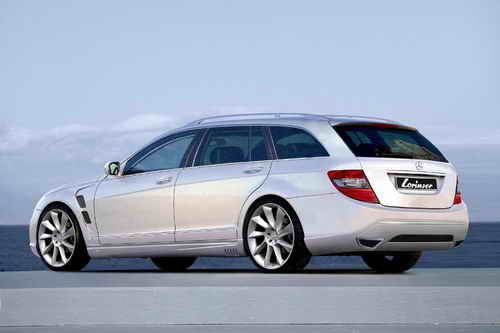 The Lorinser Mercedes C Class Estate features wide fenders with large air