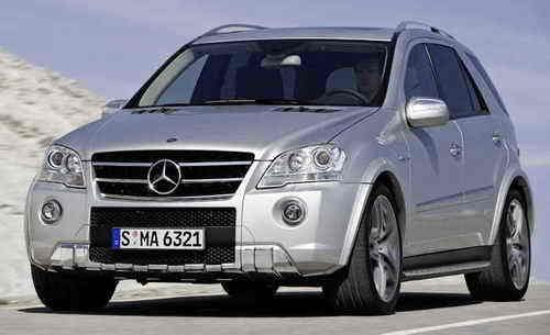 Mercedes Benz Ml Amg. a racing circuit. Mercedes