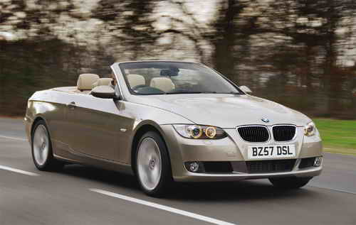 The BMW 320d SE Convertible is priced at 33110 OTR with the M Sport model