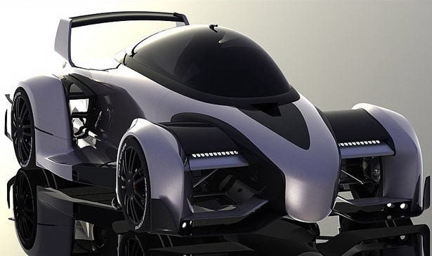 B7 Electric Super Race Car Concept